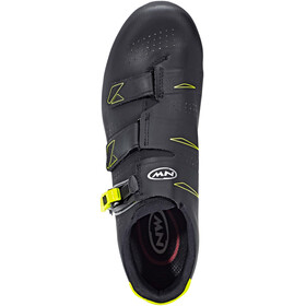 Northwave Phantom 2 SRS Shoes Men black/yellow fluo